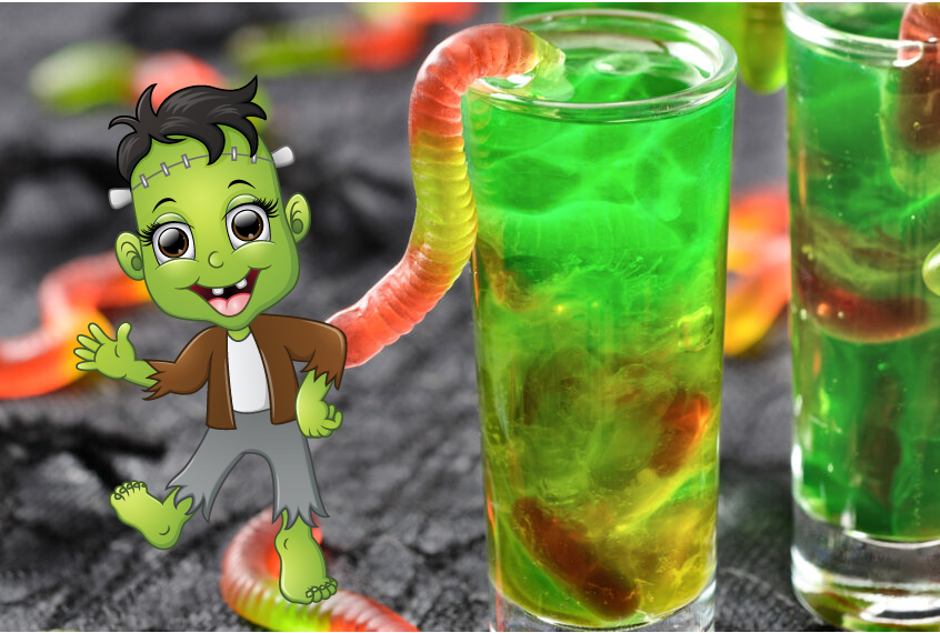 Bolton Presents: Science Party Frankenworms Gummy Experiment