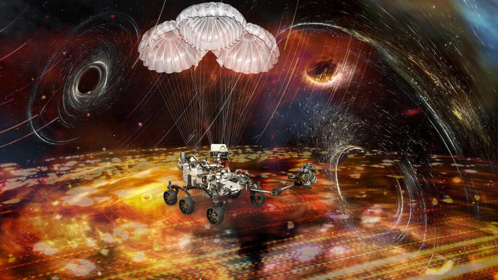 Martian Parachute Lander